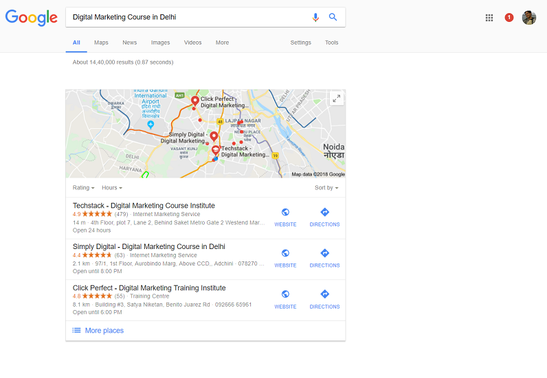 Listing in Google Maps
