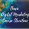 Basic Digital Marketing Course Structure